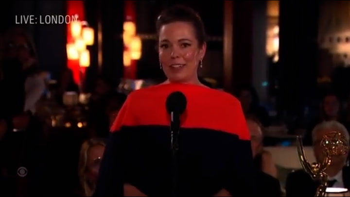 Olivia Colman dedicates Emmy win to late father who died during Covid
