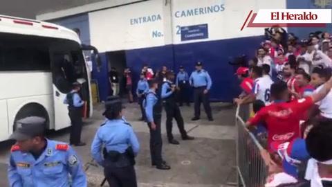 Así fue recibido el Marathón en el Nacional de Tegucigalpa