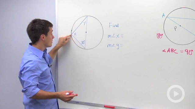 Angles in Semicircles and Chords to Tangents - Problem 1