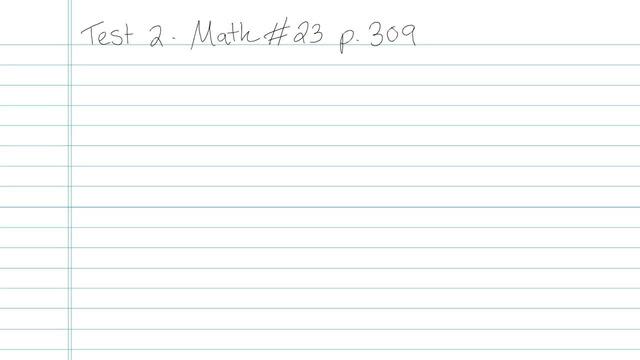 Test 2 - Math - Question 23