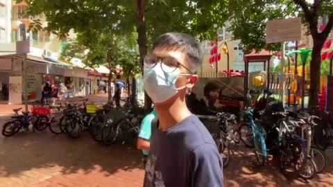 El joven activista hongkonés Tony Chung, acusado de