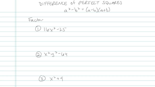 Difference of Perfect Squares - Problem 7