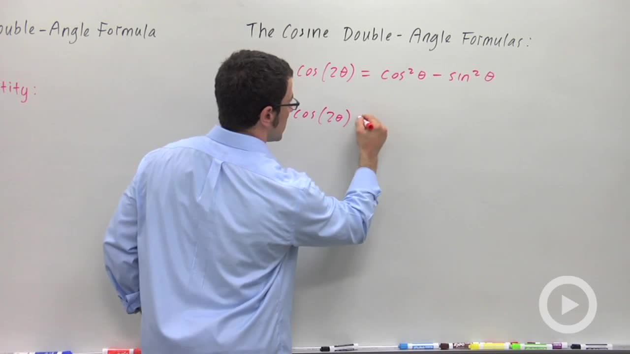 Other Forms Of The Cosine Double Angle Formula Concept Precalculus Video By Brightstorm