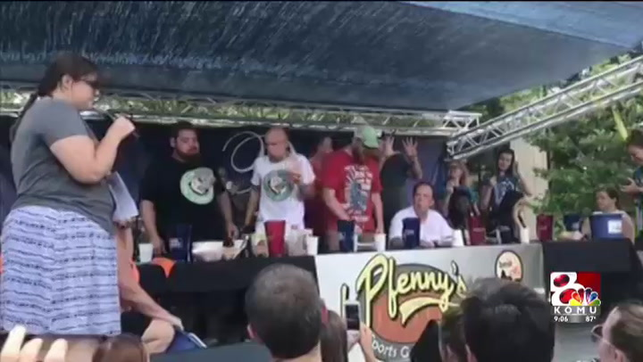 Winner of Jefferson City hot dog eating contest downs record number of dogs