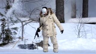 Se eksklusiv video av skrekkscener fra «James Bond»-innspilling i Norge