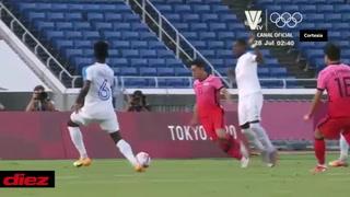 ¿Fue penal? Así fue la falta que le pitaron dentro del área a Corea del Sur contra Honduras en los Olímpicos