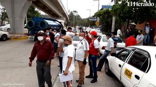 Se reporta paro de taxis en colonia La Vega