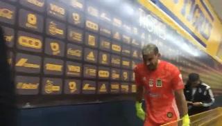 Las Lágrimas Nahuel Guzmán tras su gol y clasificación de Tigres ante Alianza en Champions de Concacaf