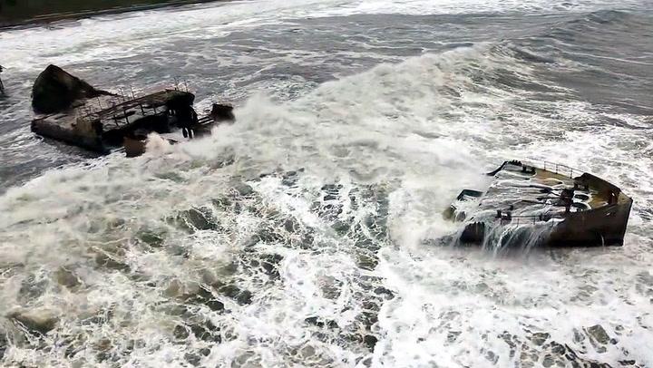 Historisk skipsvrak filleristet av monsterbølger