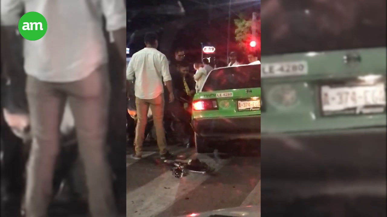 Video: Mesero sale de trabajar, toma un taxi y muere tras accidente