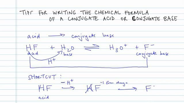 Tips for Conjugate Acid and Base Formulas