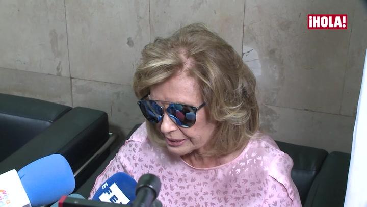 Las lágrimas de María Teresa Campos: \'Parece que no me ha pasado nada, aunque me ha pasado mucho\'