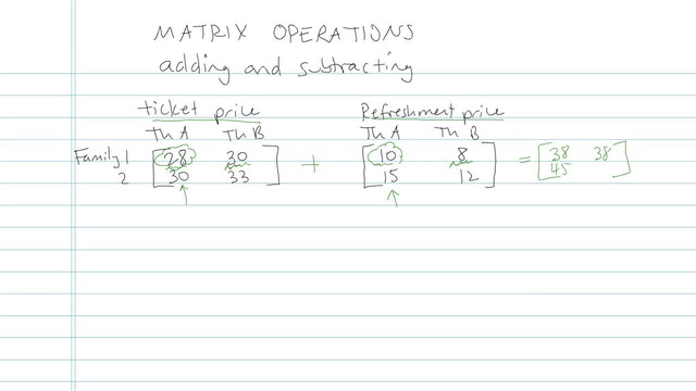 Matrix Operations - Problem 4