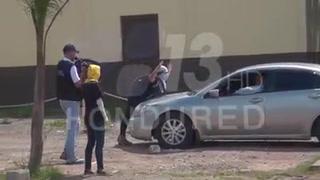 Protestante en la UNAH arriesga su vida al frente de vehículo