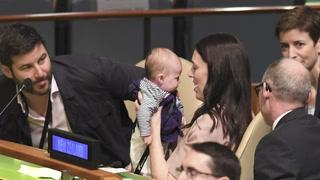 Primera ministra de Nueva Zelanda lleva a su bebé a ONU