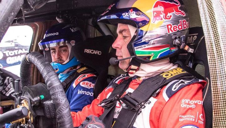 Declaraciones de Fernando Alonso tras conducir el Toyota Hilux que ganó el último Dakar