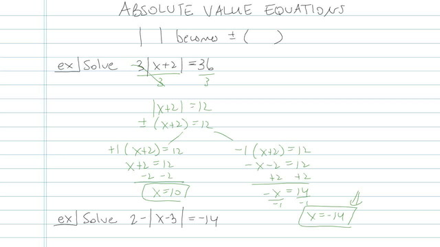 Absolute Value Equations - Problem 9