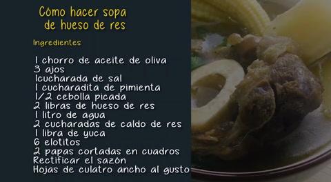 Cómo hacer sopa de hueso de res
