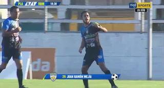 ¡Gol de Real de Minas! Juan Ramón Mejía marca de penal el 1-0 ante Platense
