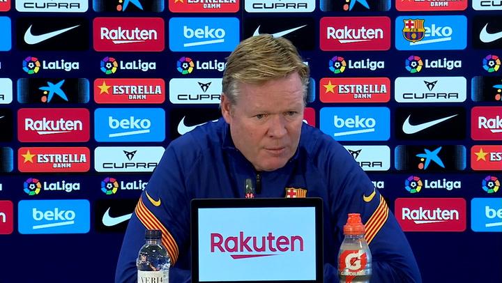Koeman sobre la ausencia de Messi ante el Eibar