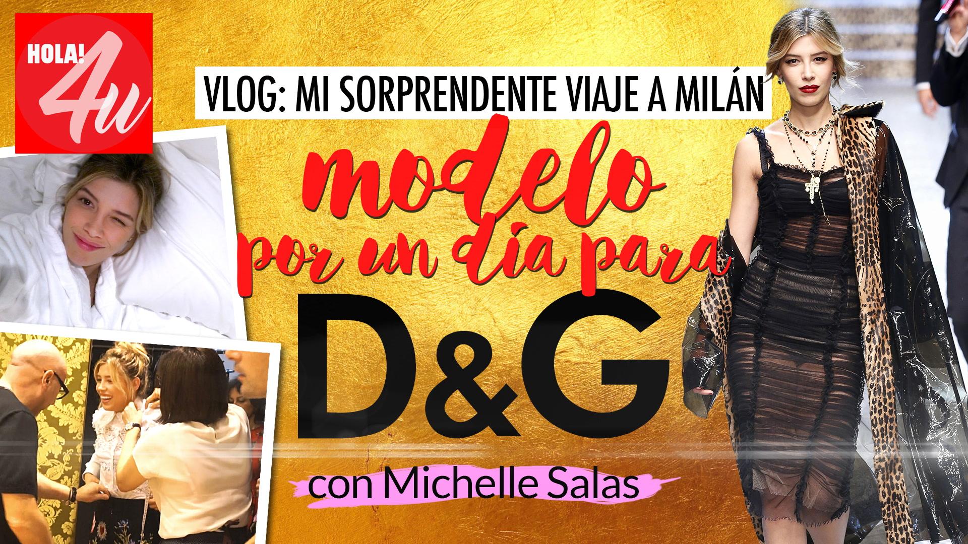 Desfilando para Dolce&Gabanna con Michelle Salas