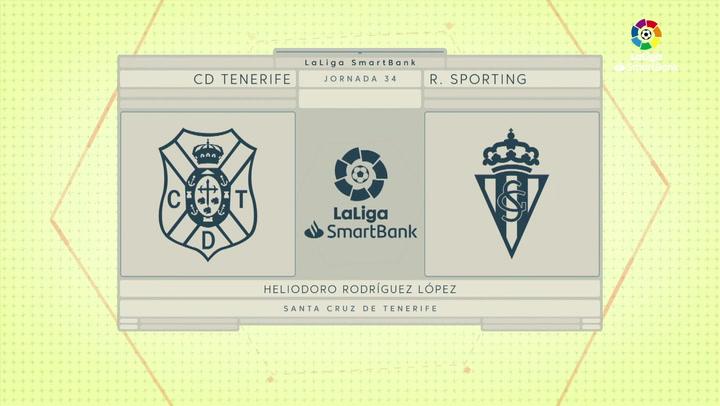 LaLiga Smartbank (Jornada 34): Tenerife 1-0 Sporting