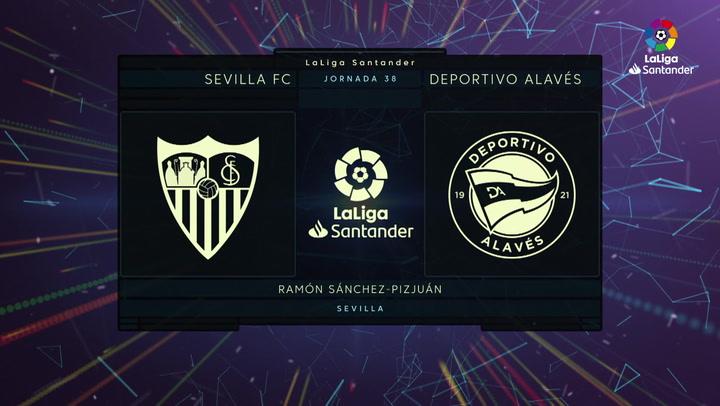 LaLiga (J38): Resumen y goles del Sevilla 1-0 Alavés