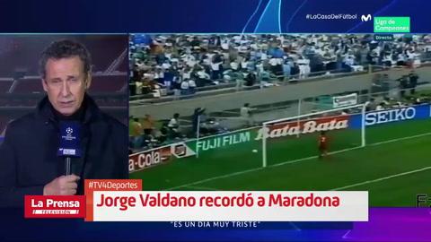 Jorge Valdano rompe a llorar al recordar a Maradona