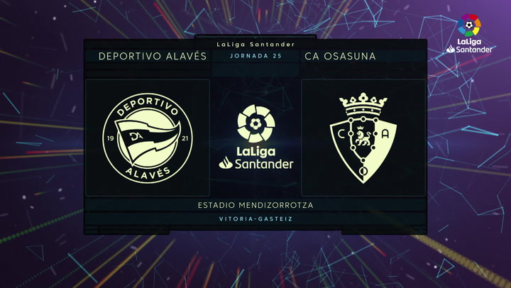 LaLiga Santander (J25): Resumen y gol del Alavés 0-1 Osasuna