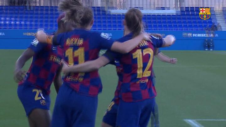 El resumen del Barça (3) - Rayo Vallecano (1) de Liga Iberdrola