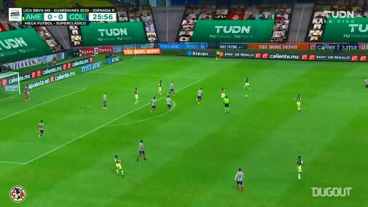 Giovani dos Santos scores the winner vs Chivas