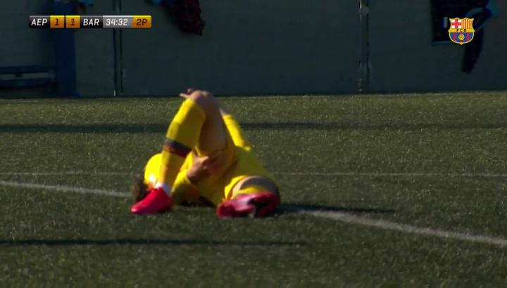Hiroki Abe se lesiona ante El Prat