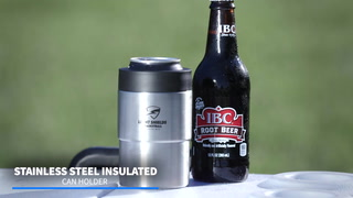 Stainless steel insulated can holder