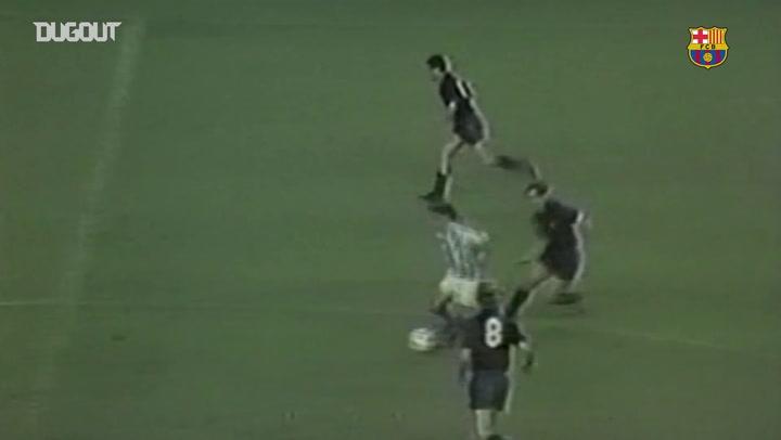 Golaço de cobertura de Maradona pelo Barça contra a Real Sociedad