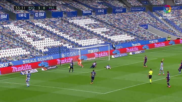 Gol  de Januzaj (4-0) en el Real Sociedad 4-1 Valladolid