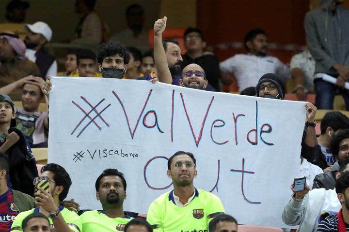 La afición saudí pide la cabeza de Ernesto Valverde