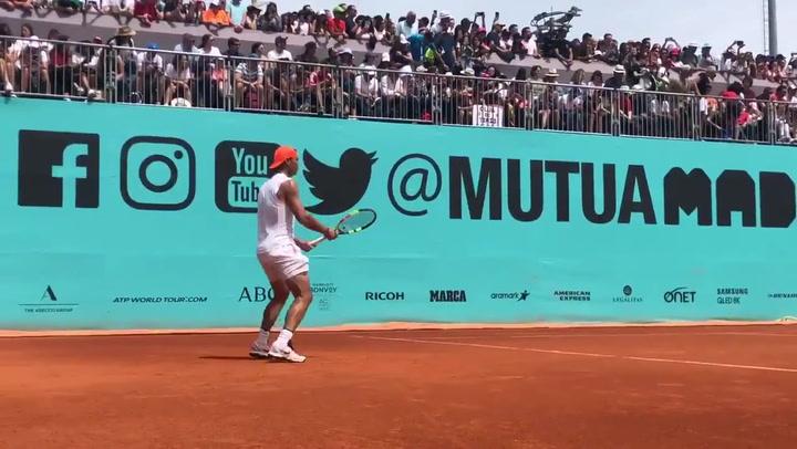 Así se preparó Nadal para su debut en el Mutua Madrid Open
