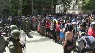 Quinta jornada de protestas en Chile, de nuevo con choques