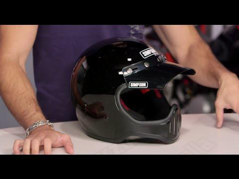 Blk Simpson M50DXL3 Model 50 Dot Helmet XLG M