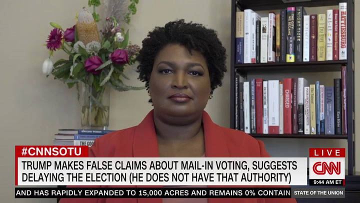 Abrams: Trump Is 'Doing His Best to Actually Steal the Vote'