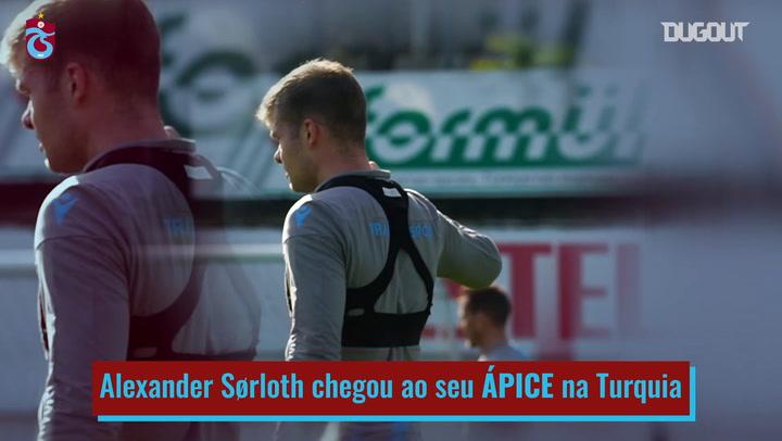 Crescimento de Alexander Sørloth no Trabzonspor