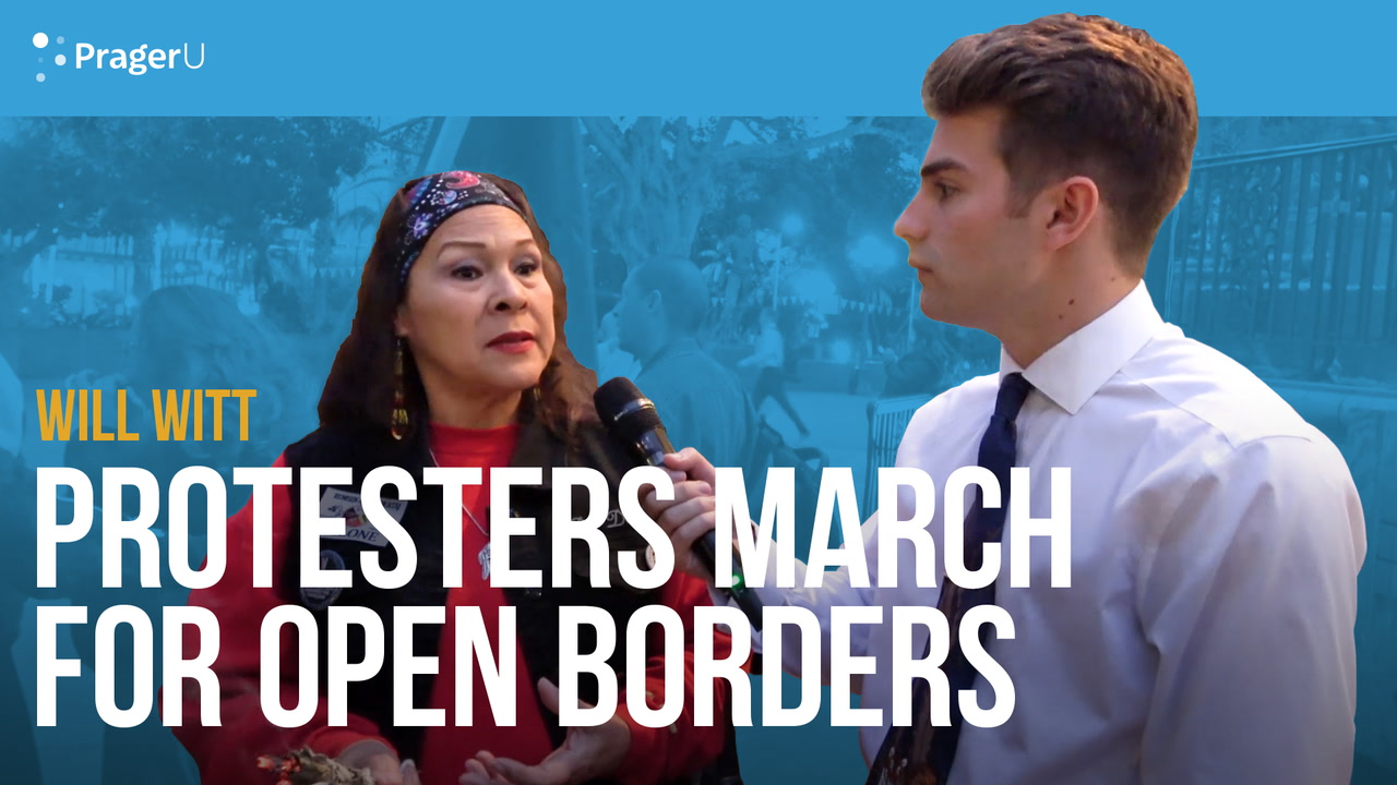 Will Witt at the March for Open Borders