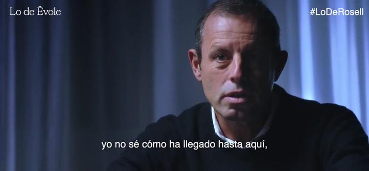 """Sandro Rosell a Évole: """"El policía sacó un sobre con billetes de 100 euros, no era mío ni de mi mujer, por la mañana no estaba"""""""