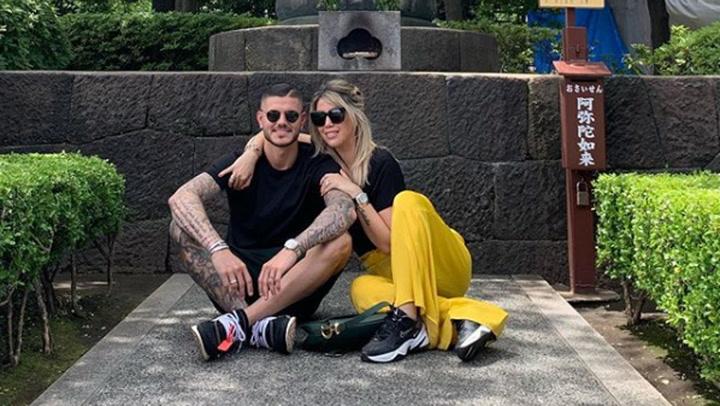 Mauro Icardi y Wanda Nara, de viaje romántico en Japón