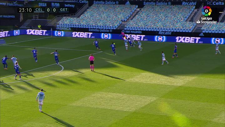 Gol de Nolito (1-0) en el Celta 1-0 Getafe