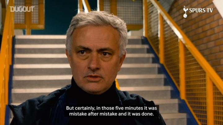 Mourinho discusses 'heartbreaking' Everton defeat