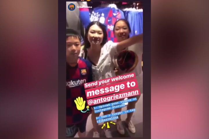 Griezmann comparte en Instagram los mensajes de la afición deseándole lo mejor