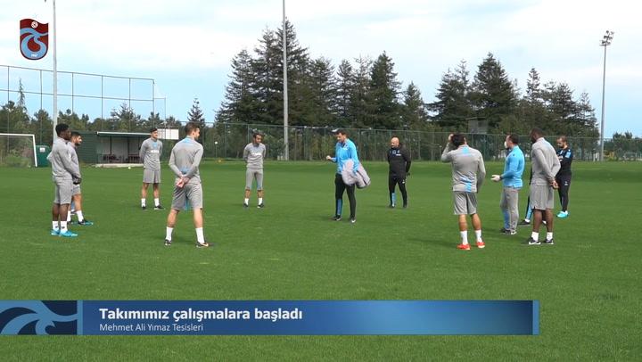 Trabzonspor 45 Gün Sonra Antrenmanlara Başladı