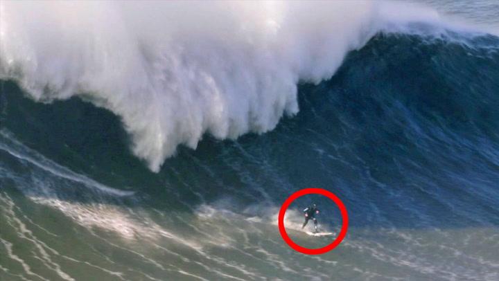 Surfer utfordret «monsterbølge» - så går det galt
