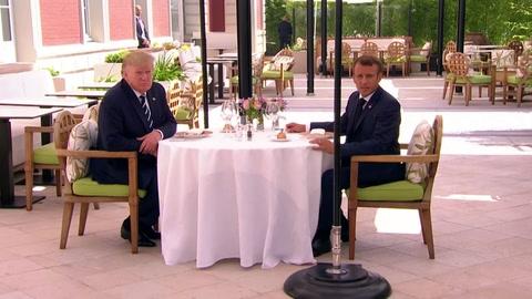 Trump y Macron encuentran